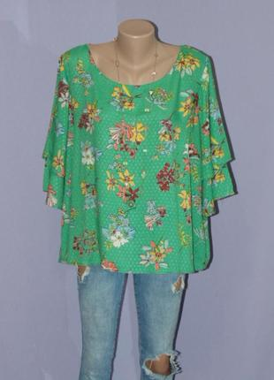 Вискозная блузочка, зеленый микс 20 размера