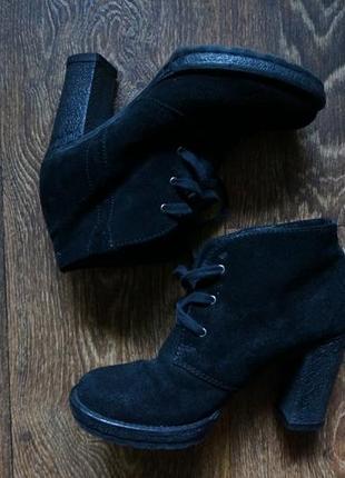 Ботинки ботильоны натуральная замша