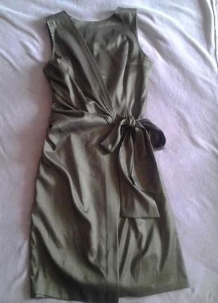 Платье бронзовое (хаки) вечернее