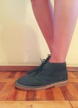 Зимние ботинки на меху desert boots