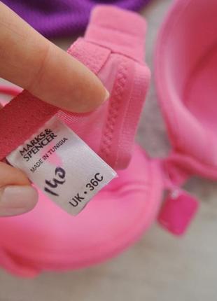 Marks&spencer лиф лифчик бюст бюстик бюстгальтер нижнее бельё розовый яркий5