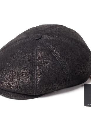 Кепка восьмиклинка мужская замшевая черная picador всс-1-11-2