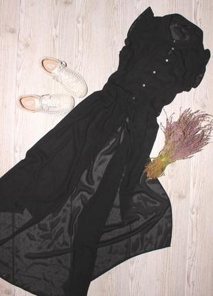 Шифоновое платье в пол only