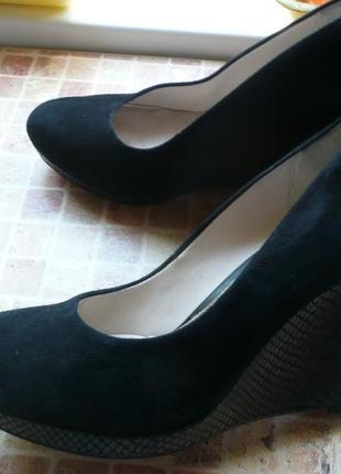 Женские туфли для девушки clarks замша длина по стельке 26, 5 см