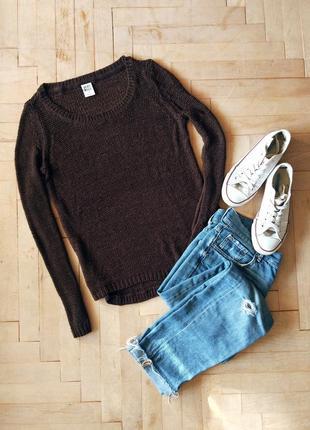 Коричневый свитер vero moda
