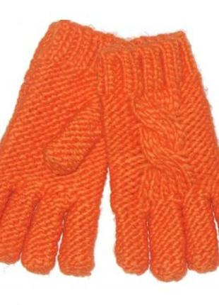 Новые вязаные оранжевые перчатки для девочки, mothercare, 2251