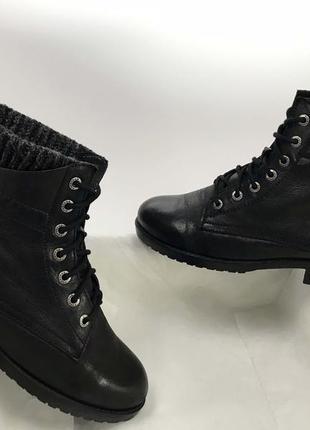 Ботинки firetrap 38 размер натуральная кожа \ чобітки чорні 38 39 розмір