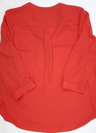 Классная коралловая блуза рукав 3/4 бренда wallis petite4 фото