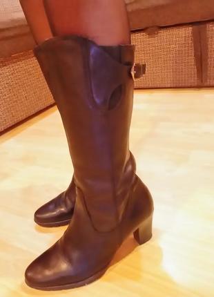 Кожаные сапоги tamaris 40р