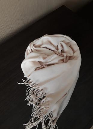 🍭роскошный кашемировый шарф нежный беж качество