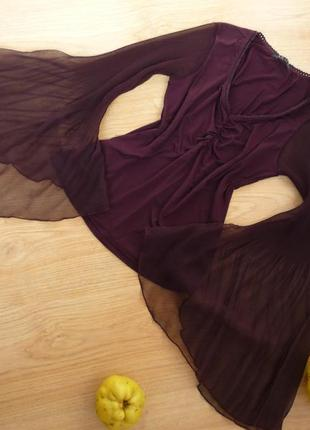 Шикарная блуза цвета чернослива / amisu