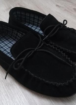 Натуральные замшевые мокасины/туфли, унисекс, новые!