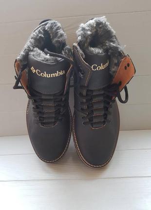 Зимние ботинки columbia black brown кожа 40p/41p/44p