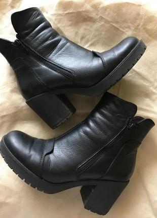 Супер стильные ботинки мягусенькая кожа