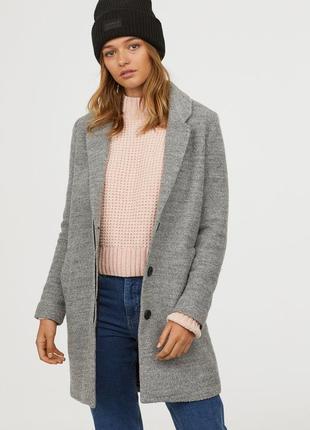 Пальто из смесовой шерсти, 34р (xs), полиэстер 60%; шерсть 40%