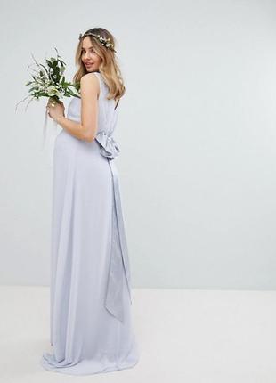 Платье с шлейфом для беременных tfnc,р-р 8