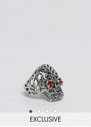 Кольцо череп от asos