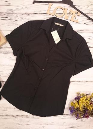 Красивая классическая блуза с биркой 8-10