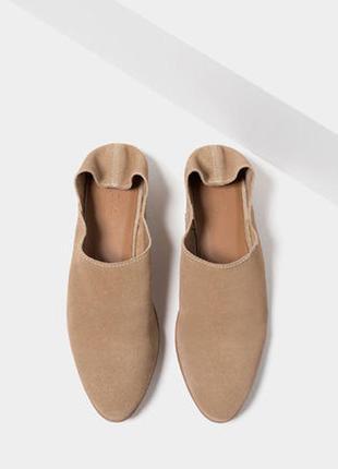 Стильні шльопанці туфлі мюли zara