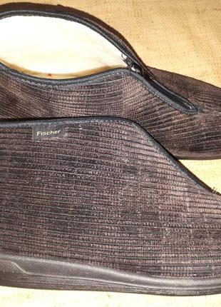 Унисекс 43р-27 см на широкую на шерсти тапки fisher germany