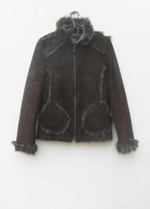 Дублёнка,куртка,шуба,накидка с мехом тёплая