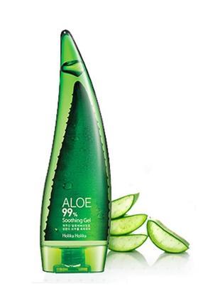 Успокаивающий и увлажняющий гель с алоэ holika holika aloe 99% soothing gel 55 мл