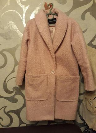 Розове пальто оверсайз (торг!)