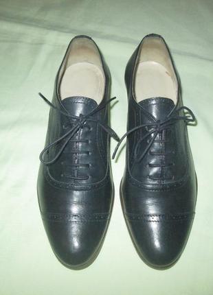 Оксфорды navyboot кожаные туфли броги италия