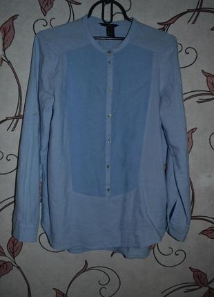Рубашка h&m,стильная, небесно голубой цвет