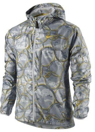 Куртка ветровка nike livestrong для бега фитнеса