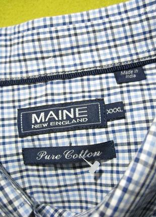 Maine new england (оригинал) индия рубашка в клетку обхват груди 150см.