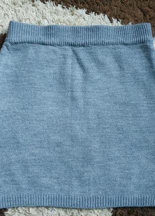 Вязаная юбка, трикотажная юбка amisu