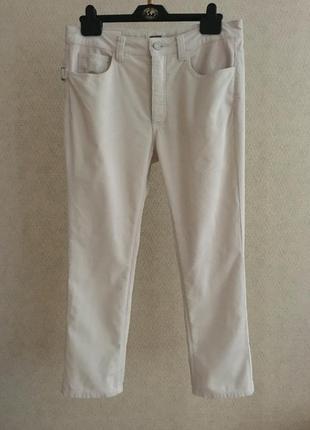 Zadig & voltaire boyish velurs светлые вельветовые брюки