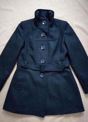 Распродажа! шерстяное нежное пальто под пояс    №1vp