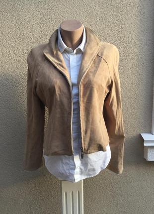 Винтаж,тонкая замша,кожа куртка без подкладки,жакет,пиджак,laura lanca,италия,кожа100%