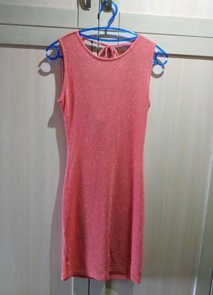 Коралловое платье sisters point