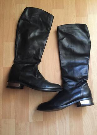 Кожаные сапоги ботинки ecco