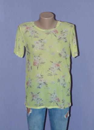 Желтенькая сеточка в цветах  от new look