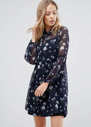 Платье в цветочный принт от influense
