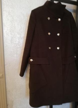 Демисезонные пальто коричневого цвета