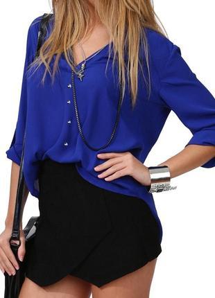 Шифоновая женская блузка-рубашка
