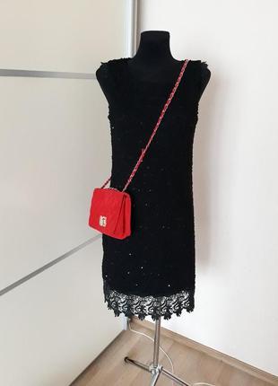 1+1=3 шикарное платье  миди с кружевом