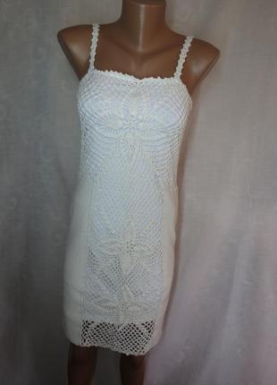Вязаное кружевное платье миди от asos