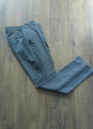 Сірі (рябенькі) фірмові класичні брюки (h&m)