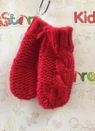 Новые вязаные красные перчатки для девочки, mothercare, 941902