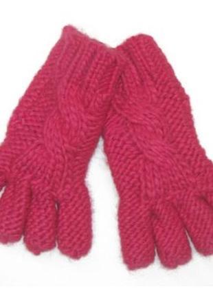 Новые вязаные розовые перчатки для девочки, mothercare, 2246