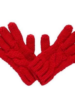 Новые вязаные красные перчатки для девочки, mothercare, 2250