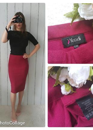Миди юбка, юбка по фигуре, юбка карандаш цвета бордо