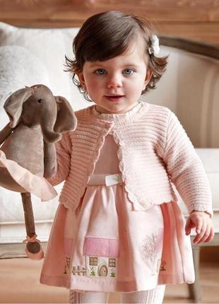 Платье для девочки mayoral baby girl pink house dress