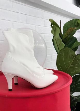 Белые ботинки козачки ковбойки сапоги білі черевички купити в україні